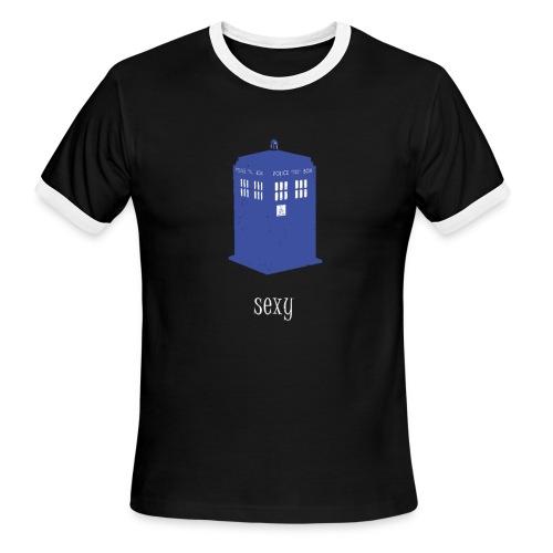Sexy TARDIS | Robot Plunger - Men's Ringer T-Shirt