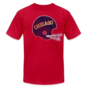 Vintage Chicago Football Helmet - Men's T-Shirt by American Apparel