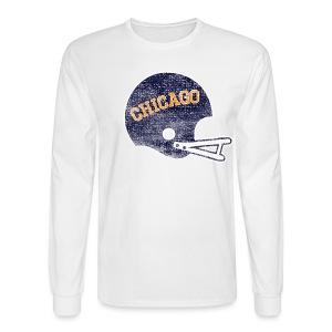 Vintage Chicago Football Helmet - Men's Long Sleeve T-Shirt