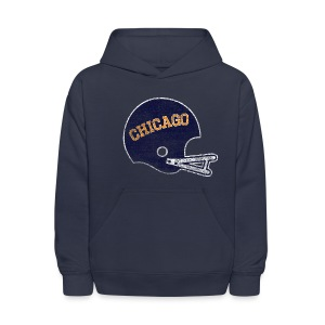 Vintage Chicago Football Helmet - Kids' Hoodie