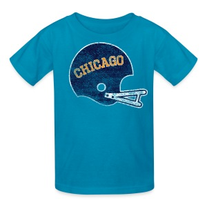 Vintage Chicago Football Helmet - Kids' T-Shirt