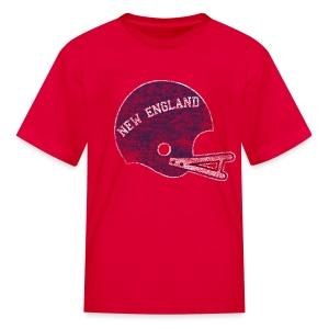 Vintage New England Football Helmet - Kids' T-Shirt