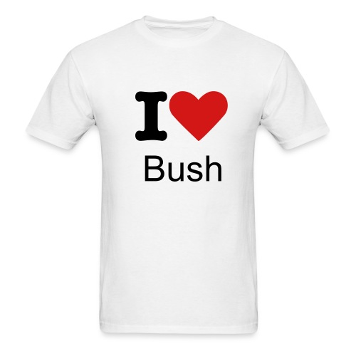 I don't love bush - Men's T-Shirt