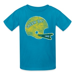 Vintage Green Bay Football Helmet - Kids' T-Shirt