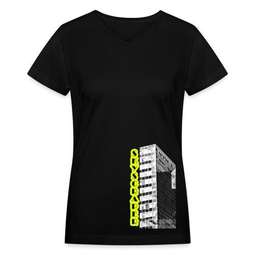 Skyscraper - Women's V-Neck T-Shirt