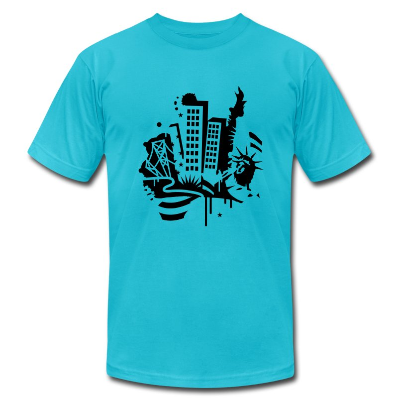 A new york city design in graffiti style t shirt spreadshirt for American apparel t shirt design
