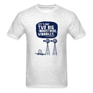 WINDMILLS (gray) - Men's T-Shirt