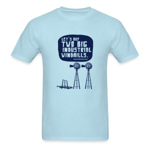 WINDMILLS (light blue) - Men's T-Shirt