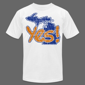Yes! Michigan - Men's T-Shirt by American Apparel