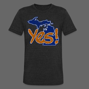 Yes! - Unisex Tri-Blend T-Shirt by American Apparel