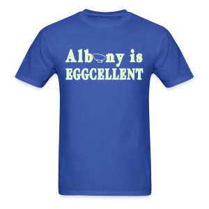 Glow in the dark Albany is Eggcellent Shirt by New York Old School - Men's T-Shirt