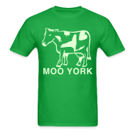 T-Shirts ~ Men's T-Shirt ~ Glow in the dark Moo York Shirt by New York Old School