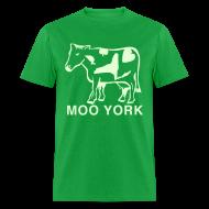 T-Shirts ~ Men's T-Shirt ~ Glow in the dark Moo York Shirt by New York Old School