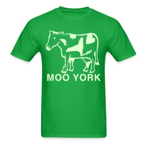 Glow in the dark Moo York Shirt by New York Old School - Men's T-Shirt