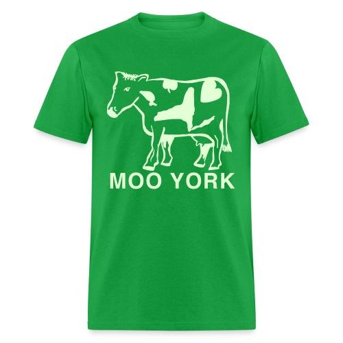 Glow in the dark Moo York Shirt by New York Old School - Men's T-Shirt