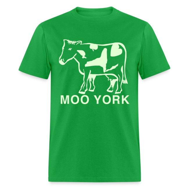Glow in the dark Moo York Shirt by New York Old School
