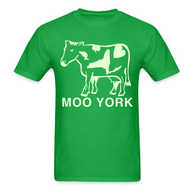 Glow in the dark Moo York Shirt by New York Old School