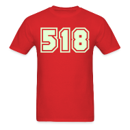 T-Shirts ~ Men's T-Shirt ~ Glow in the dark Area Code 518 Shirt by New York Old School