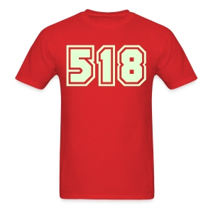 Glow in the dark Area Code 518 Shirt by New York Old School  - Men's T-Shirt