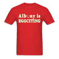T-Shirts ~ Men's T-Shirt ~ Glow in the dark Albany is Eggciting Shirt by New York Old School