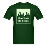 T-Shirts ~ Men's T-Shirt ~ Glow in the dark New York Old School Logo Shirt by New York Old School