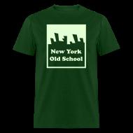 T-Shirts ~ Men's T-Shirt ~ Glow in the dark New York Old School Logo Shirt by New York Old School
