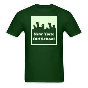 Glow in the dark New York Old School Logo Shirt by New York Old School - Men's T-Shirt