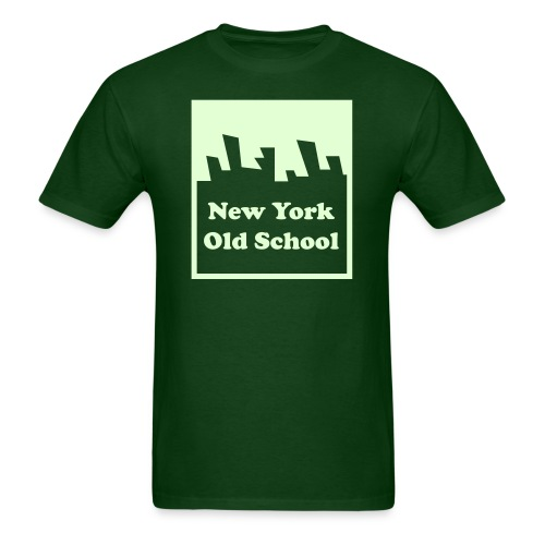 Glow in the dark New York Old School Logo Shirt by New York Old School - Men's T-Shirt