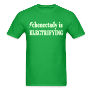 T-Shirts ~ Men's T-Shirt ~ Glow in the dark Schenectady is Electrifying Shirt by New York Old School