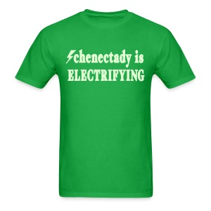 Glow in the dark Schenectady is Electrifying Shirt by New York Old School  - Men's T-Shirt
