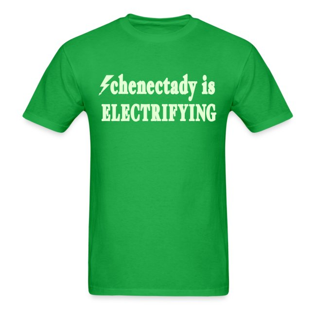 Glow in the dark Schenectady is Electrifying Shirt by New York Old School