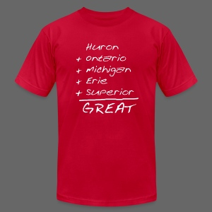Math is Great - Men's T-Shirt by American Apparel