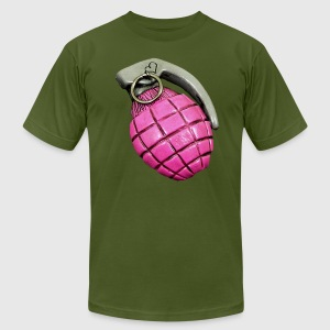 Pink Grenade T-Shirts - Men's T-Shirt by American Apparel