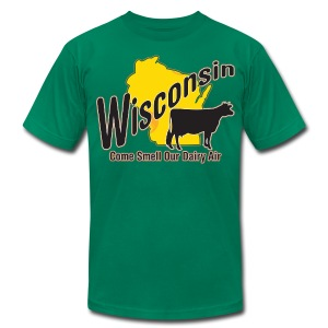 Wisconsin Dairy Air - Men's T-Shirt by American Apparel
