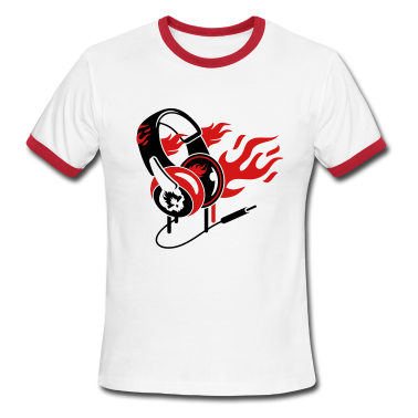 Headphones and flames T-Shirts