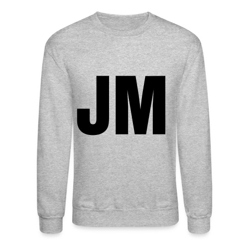 Men's Black Velvety Print - Crewneck Sweatshirt