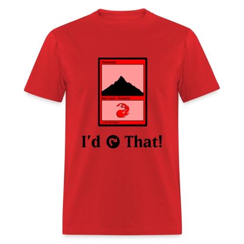 MC Escher - I'd Tap That (Red) - Men's T-Shirt