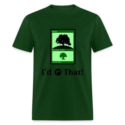 MC Escher - I'd Tap That (Green) - Men's T-Shirt