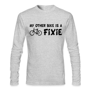 My Other Bike is a Fixie Men's Long Sleeve Tee - Men's Long Sleeve T-Shirt by Next Level