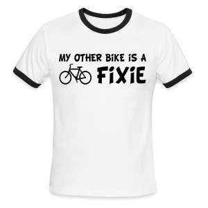 My Other Bike is a Fixie Men's Ringer Tee - Men's Ringer T-Shirt