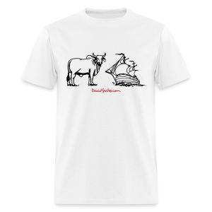 Bull Ship -  Cartooned Men's Standard Weight T-Shirt - Men's T-Shirt