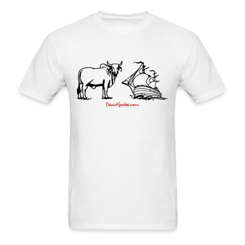 Bull Ship -  Cartooned Men's Standard Weight T-Shirt - Men's T-Shirt