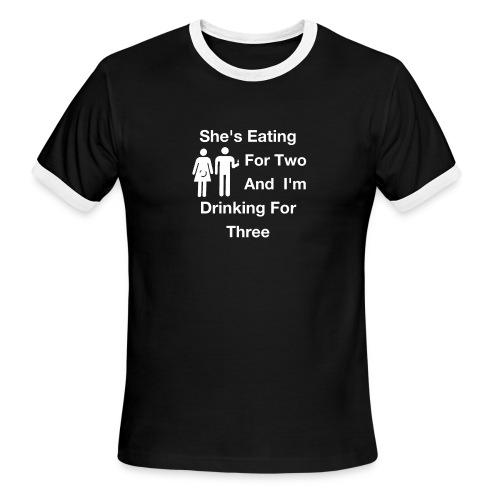 Future Dad Math - Men's Ringer T-Shirt