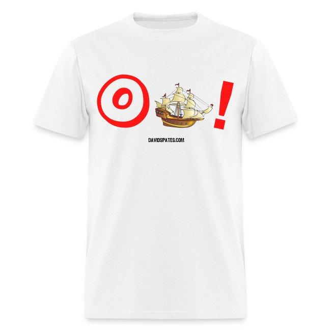 Oh Ship -  Cartooned Men's Standard Weight T-Shirt