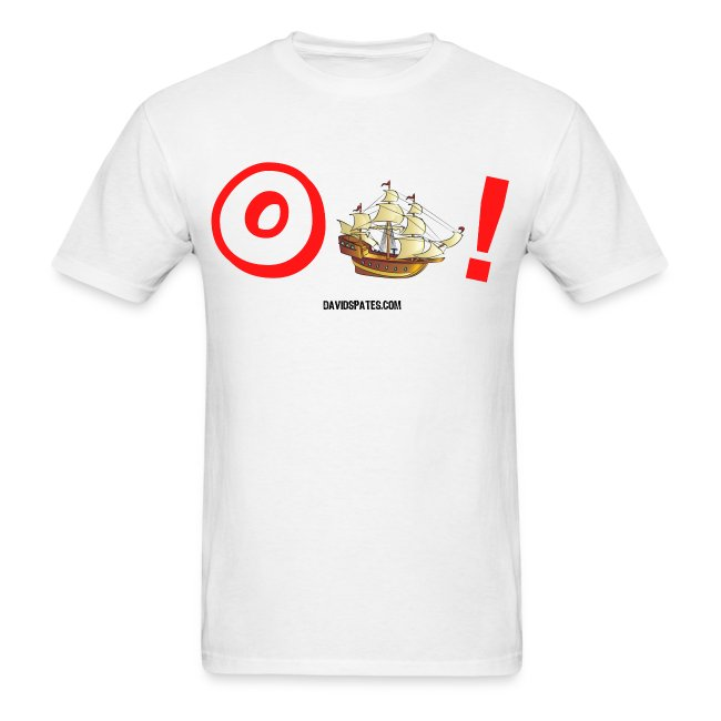 Oh Ship -  Cartooned Men's Standard Weight T-Shirt