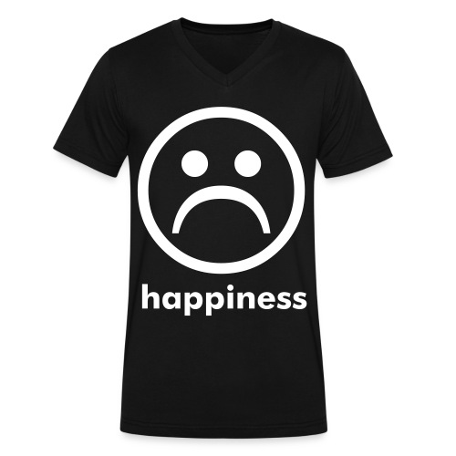 happiness - Men's V-Neck T-Shirt by Canvas