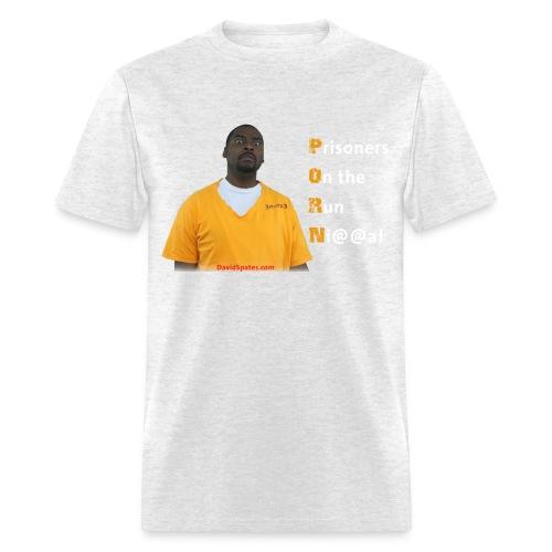 Porn Talk - Prisoners on The Run N! Men's Standard Weight T-Shirt - Men's T-Shirt