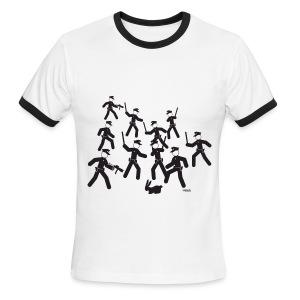 Cop Attack - Men's Ringer T-Shirt