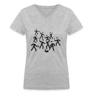 Cop Attack - Women's V-Neck T-Shirt