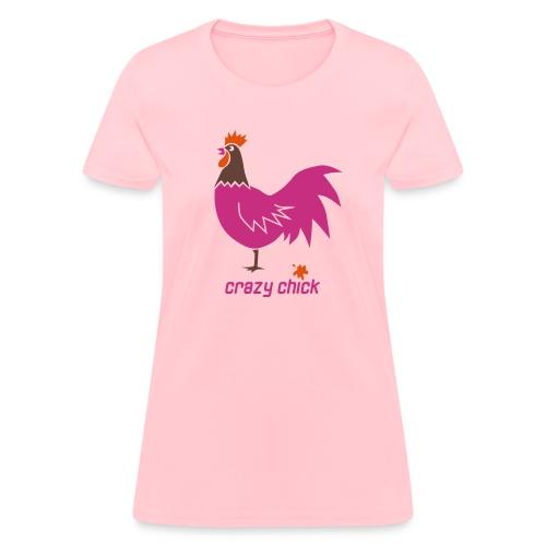 t-shirt crazy chick chicken bird bachelorette party night - Women's T-Shirt